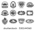 retro seafood logo  emblems and ... | Shutterstock . vector #530144560