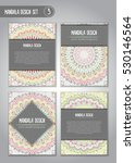 tribal mandala design set.... | Shutterstock .eps vector #530146564