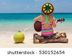 little happy baby in rastaman... | Shutterstock . vector #530152654