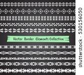 seamless abstract vector border ... | Shutterstock .eps vector #530156050