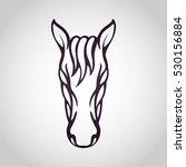 horse logo vector icon design | Shutterstock .eps vector #530156884