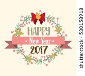 happy new year. lettering with... | Shutterstock .eps vector #530158918