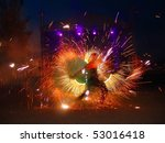 Fire Juggler Light During Yach...