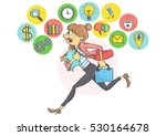 manager woman or a clerk...   Shutterstock .eps vector #530164678
