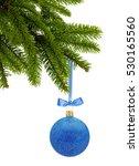 Blue Glitter Christmas Decor...