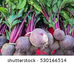 organic beetroots on display at ... | Shutterstock . vector #530166514