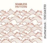 landscape pattern. vector... | Shutterstock .eps vector #530166550