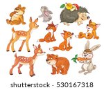 cute woodland animals. small... | Shutterstock . vector #530167318