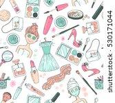 hand darwn seamless pattern ...   Shutterstock . vector #530171044