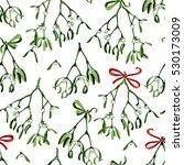 seamless watercolor christmas... | Shutterstock . vector #530173009