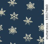 seamless snowflakes pattern for ... | Shutterstock .eps vector #530174860