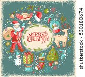 vector christmas and new year... | Shutterstock .eps vector #530180674