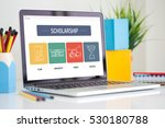 scholarship icon concept on... | Shutterstock . vector #530180788