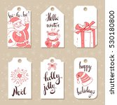 collection of vector christmas... | Shutterstock .eps vector #530180800