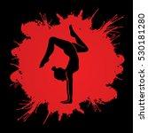 yoga pose designed on splatter... | Shutterstock .eps vector #530181280