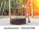 attractive fittness man doing... | Shutterstock . vector #530181988