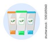 vegan natural  cosmetics shower ... | Shutterstock .eps vector #530185060