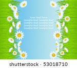 vector background with grass. | Shutterstock .eps vector #53018710