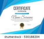 vector certificate template. | Shutterstock .eps vector #530188204