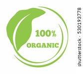 leaf shaped logo organic... | Shutterstock .eps vector #530193778