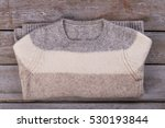 beautiful three color knitted... | Shutterstock . vector #530193844