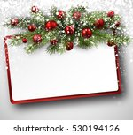 christmas card with fir... | Shutterstock .eps vector #530194126
