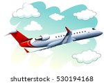 airplane flying in the sky at... | Shutterstock .eps vector #530194168