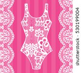 body. lingerie. lacy beautiful... | Shutterstock .eps vector #530199004