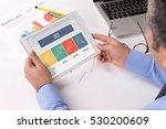 seo concept on tablet screen | Shutterstock . vector #530200609
