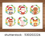 merry christmas santa claus... | Shutterstock .eps vector #530202226