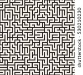 seamless pattern with maze.... | Shutterstock .eps vector #530210230