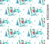 endless pattern christmas theme.... | Shutterstock .eps vector #530210644