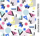 memphis seamless pattern of...   Shutterstock . vector #530217850
