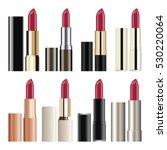 lipstick set isolated on white...   Shutterstock .eps vector #530220064