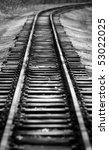 Retro Empty Railway In The...