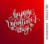 funny valentines card. happy... | Shutterstock .eps vector #530221780