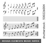 set of musical notes isolated... | Shutterstock .eps vector #530226004