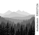 pine forest and mountains... | Shutterstock .eps vector #530227126