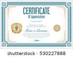 certificate retro design... | Shutterstock .eps vector #530227888