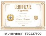 certificate retro design... | Shutterstock .eps vector #530227900