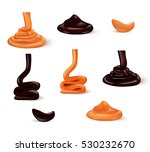 liquid caramel and chocolate | Shutterstock .eps vector #530232670