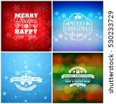 set of merry christmas and...   Shutterstock .eps vector #530233729