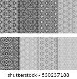 illusion cube patterns set.... | Shutterstock .eps vector #530237188