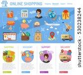 online shopping concept... | Shutterstock .eps vector #530238244