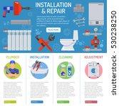 plumbing service installation... | Shutterstock .eps vector #530238250