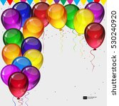 birthday party vector... | Shutterstock .eps vector #530240920