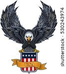 american eagle with usa flag   Shutterstock .eps vector #530243974