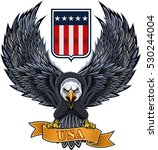 american eagle with usa flag | Shutterstock .eps vector #530244004