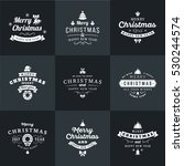 set of merry christmas and... | Shutterstock .eps vector #530244574