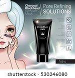 charcoal mask ads. vector... | Shutterstock .eps vector #530246080
